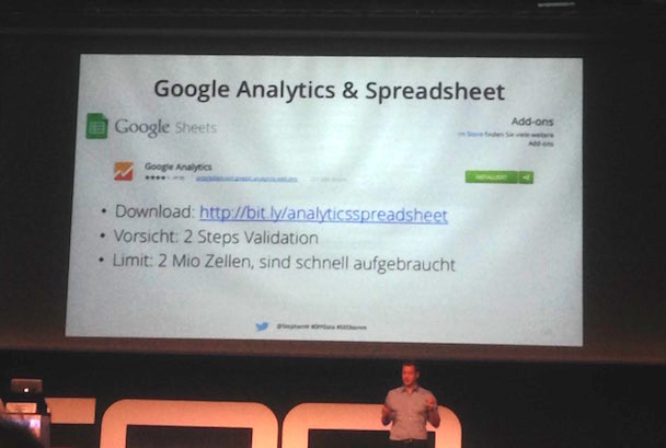 Google Analytics und Spreadsheet